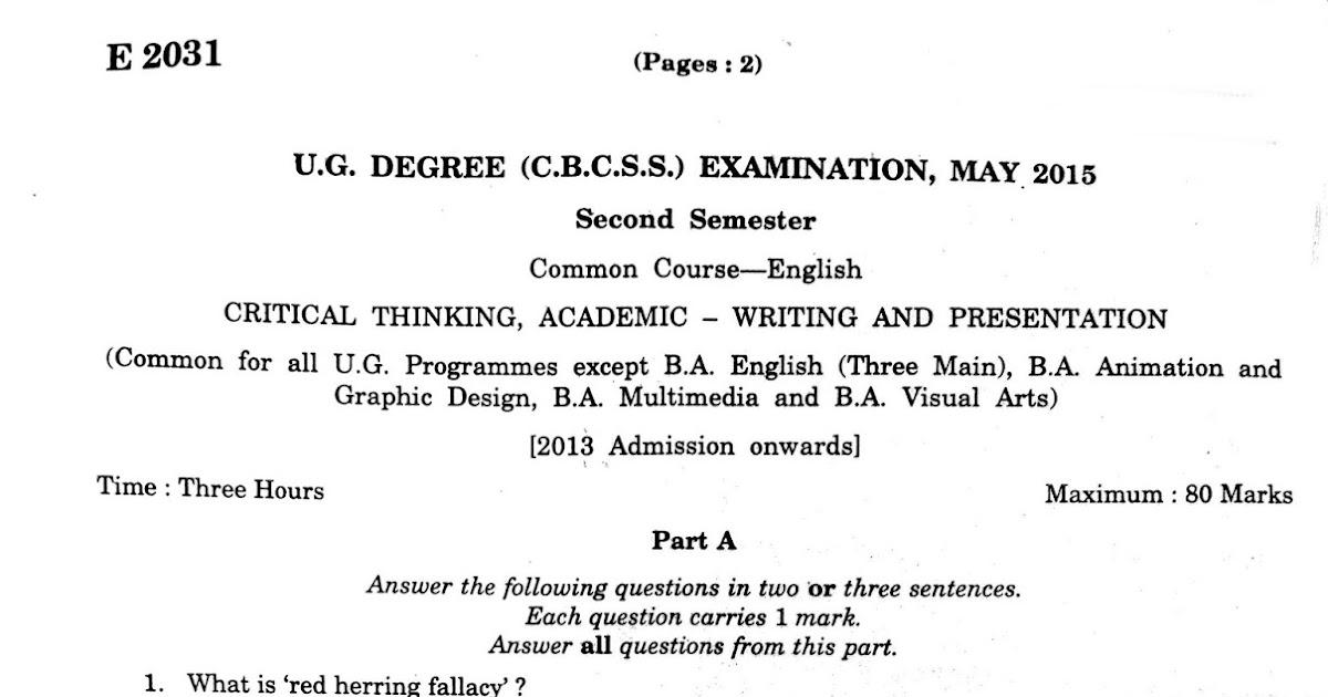 ssus critical thinking