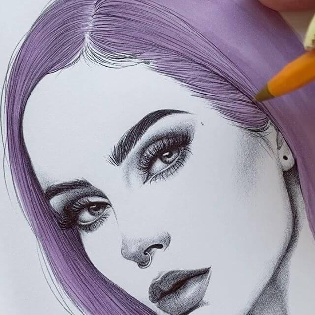 07-Kaia-Ballpoint-Pen-Color-Portraits-www-designstack-co