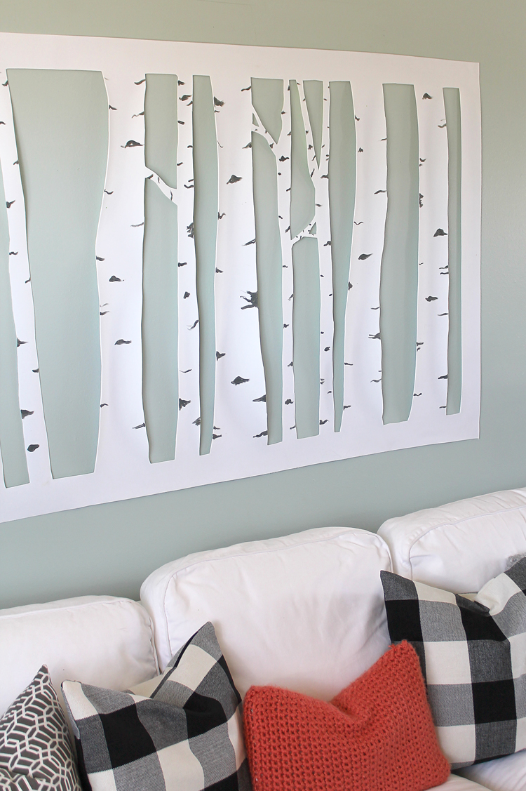 The Craft Patch: Large, Inexpensive DIY Aspen Tree Wall Art