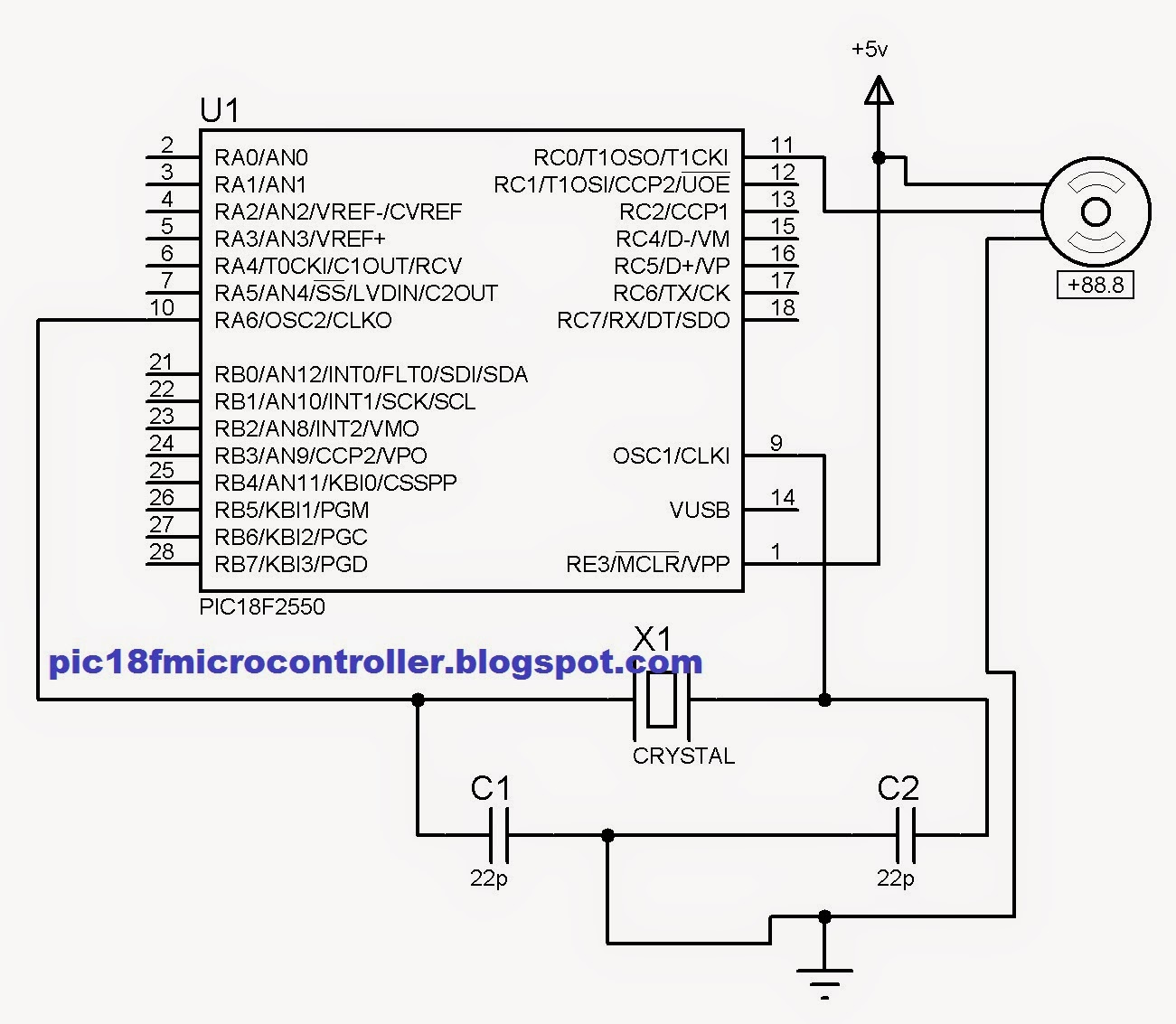 Servo Motor Interfacing With Pic Microcontroller Pic18f2550 In Circuit1 Beginners Guide Avr Programming Proteus Step By