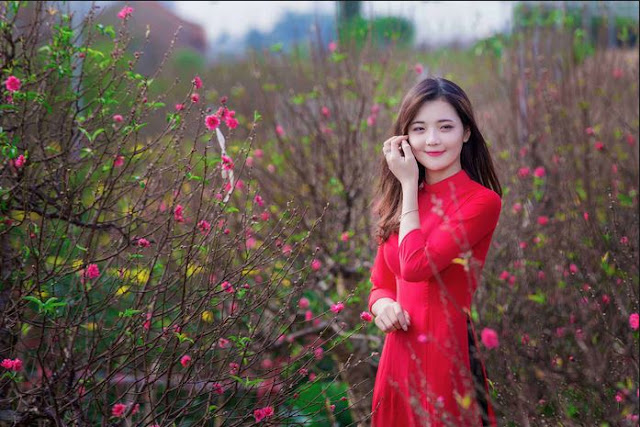 Hotgirl Le Thu Huong in Spring garden album