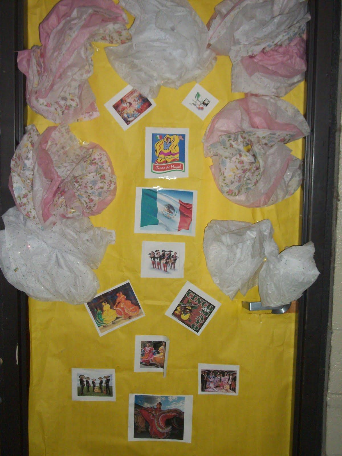 Ms. Cunningham's Class Blog: Cinco de mayo door decorations