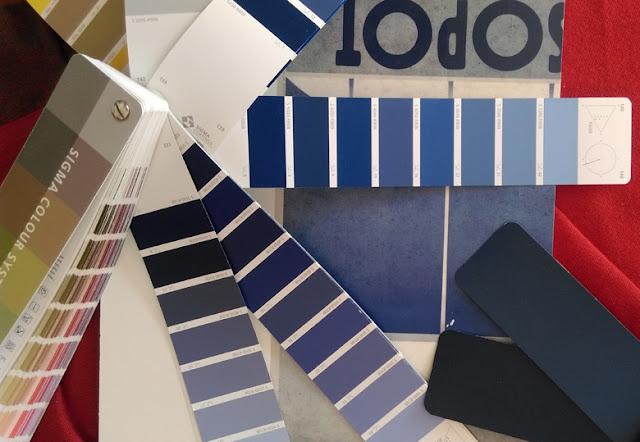 kolor niebieski - paleta kolorów