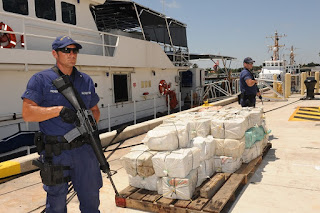 In The Pirate by Malcolm Torres, the Coast Guard seizes large quantities of illegal drugs while on patrol off the coast of Key West.