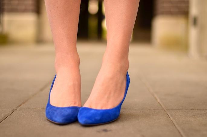 Aldo Cobalt Blue Suede Heels