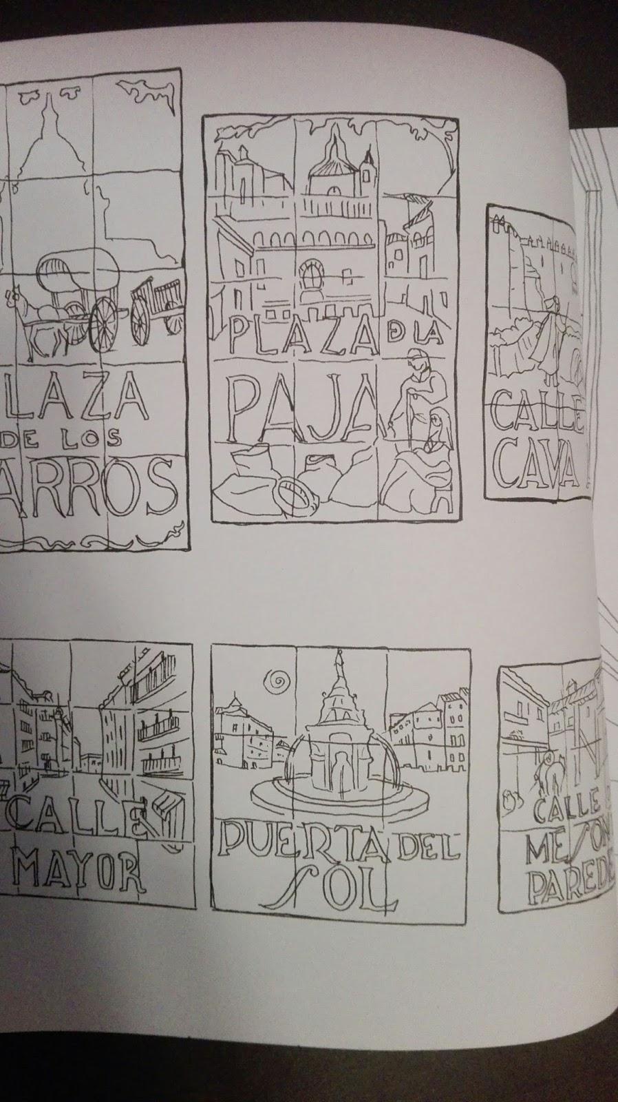 Lunáticas por Madrid: Madrid Secreto. Libro antiestrés para colorear.