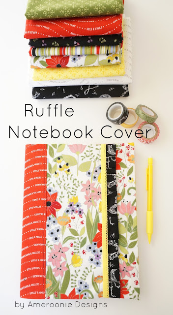 Notebook cover with ruffle accent