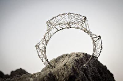 Silver bangle, wire bangle bracelet