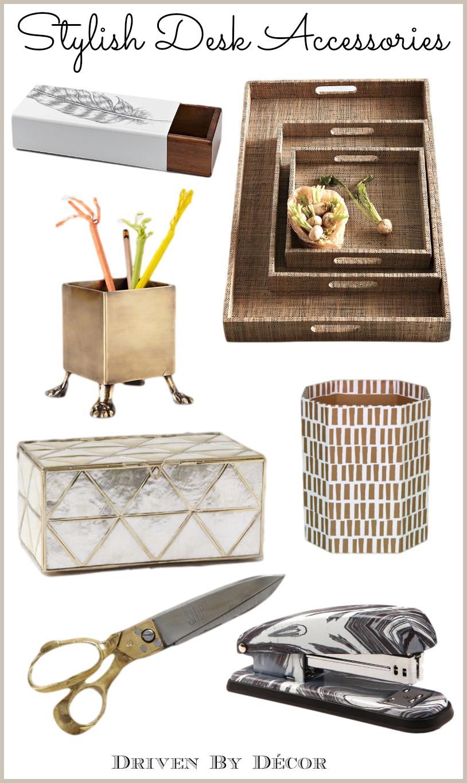 A Stylish Organized Desk Favorite Accessories Driven by Decor