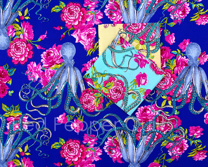 Neptune's Neverland ~ Neptune and the Mermaid by Tokyo Milk for Freespirit Fabrics | © Red Pepper Quilts 2017.