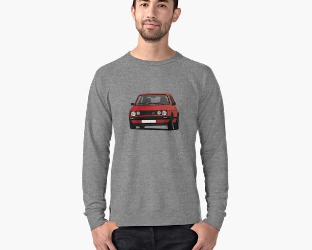 VW Golf I GTI - shirt - red