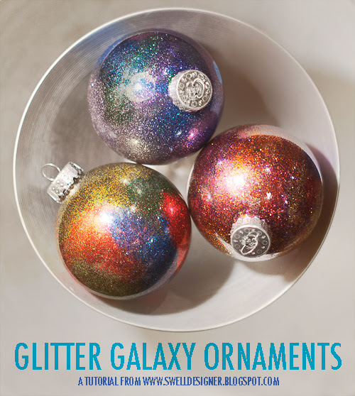 Glitter Galaxy Ornament DIY