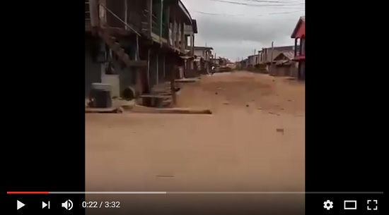Onitsha Head Bridge In Total 'Ghost Mode' As IPOB Massively Observes Sit-At-Home Order (Video)
