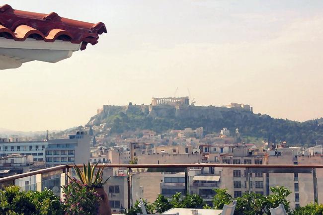 Dorian Inn hotel Athens Acropolis view