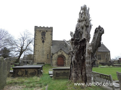 St Peter's Church and Robin Hood Yew, Hartshead, West Yorkshire
