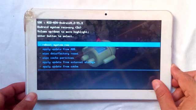 hard reset tablet TechPad todos los modelos