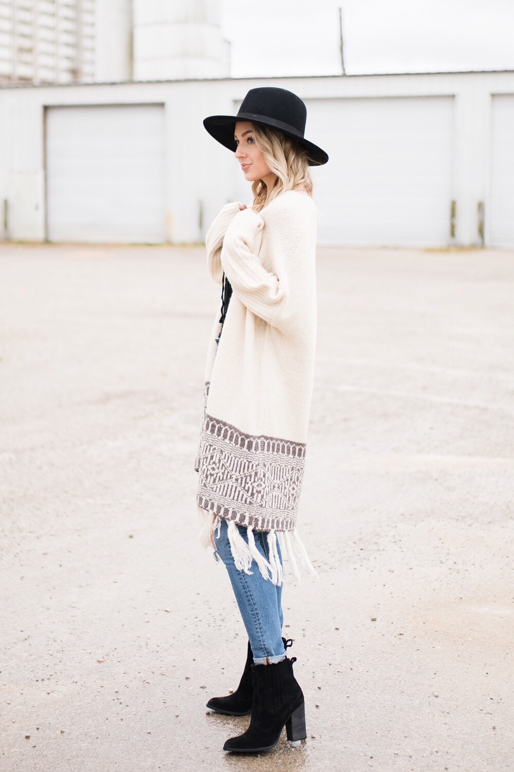 Long fringe cardigan