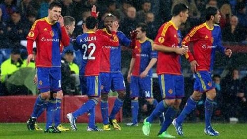 Salah cùng đồng đội trong màu áo CLB Basel