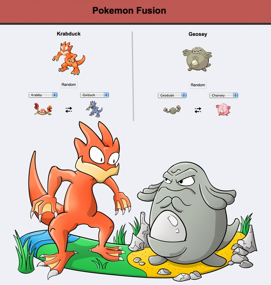 gnarlee pokémon fusion krabduck vs geosey