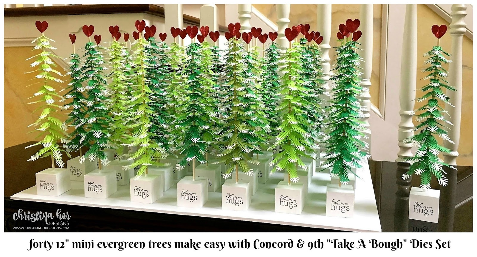 concord & 9th Take A Bough Dies Set mini evergreen tree craft