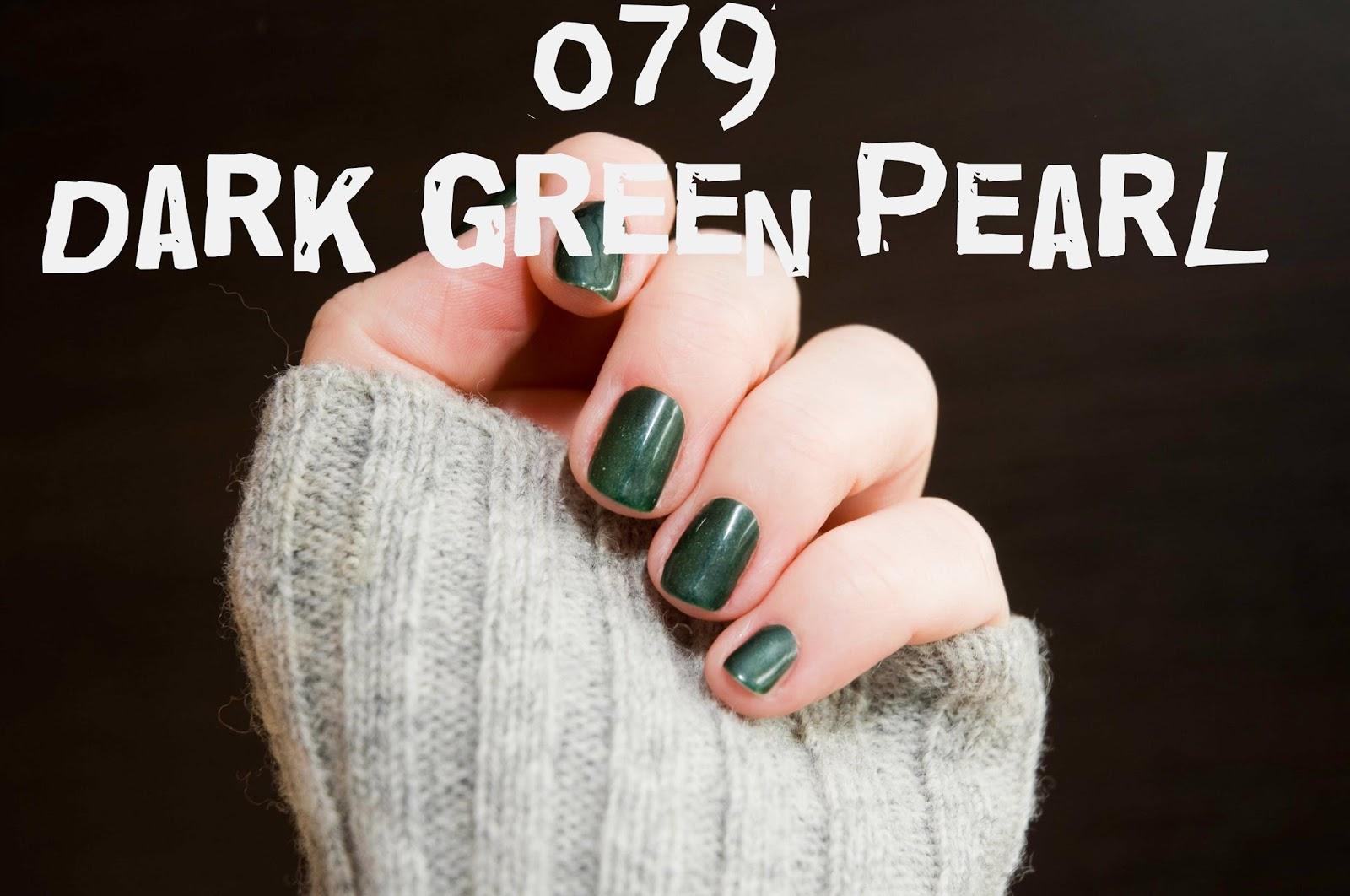 Semilac 079 Dark Green Pearl Szafirowy Odcień Zieleni