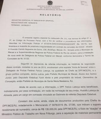 Segovia cancela nomeação de  Felício Laterça  para a superintendente da PF no Rio