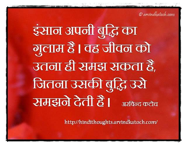 Hindi Thought, Meaning, Man, slave, intellect, understand, life,