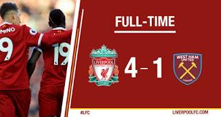 Liverpool vs West Ham 4-1 Highlights