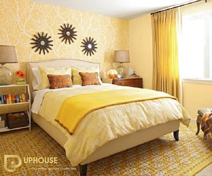 Phòng ngủ màu vàng kem 11