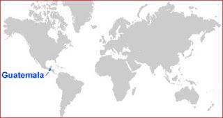 Gambar Peta letak Guatemala