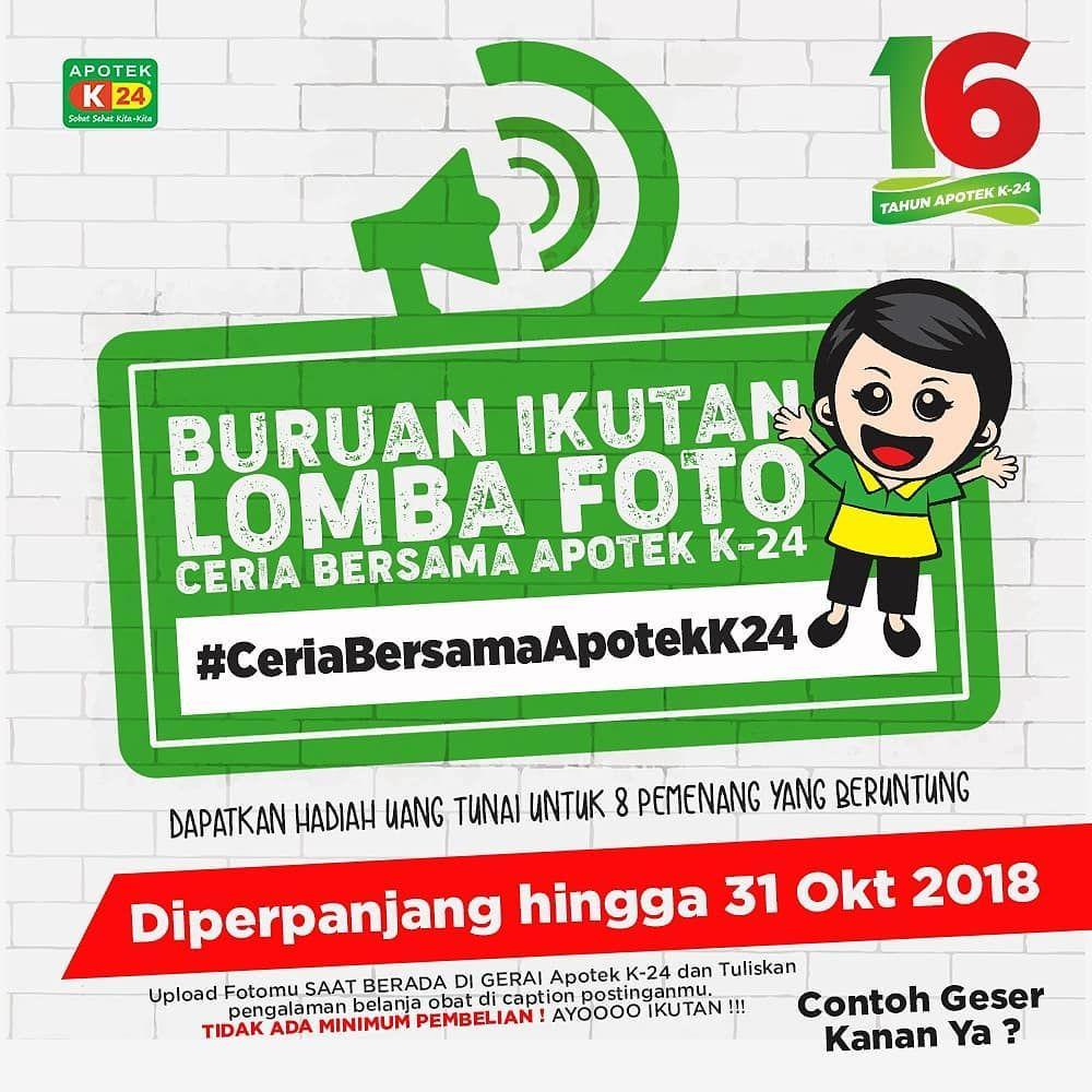 K24 - Promo Kontes Loma Foto Cerial Bersama Apotek K-24 (s.d 31 Okt 2018)