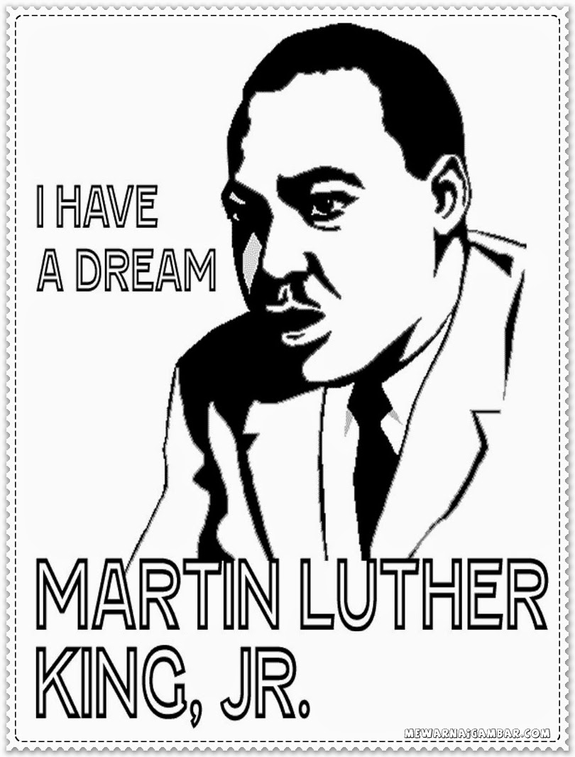 Martin Luthe King Jr I Have A Dream Coloring Page