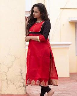 long salwar suit neck design for ladies