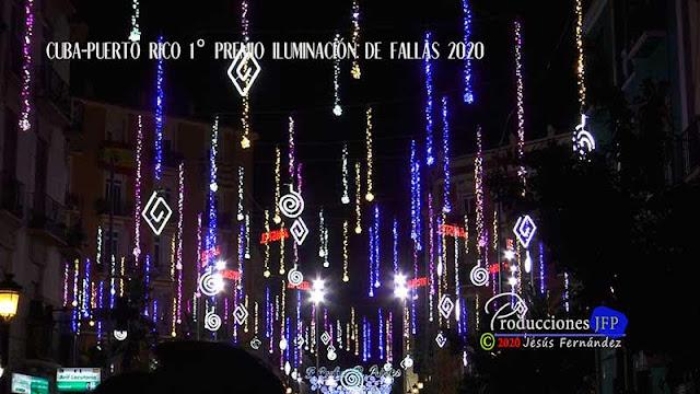 Cuba-Puerto Rico 1º premio Iluminación de Fallas