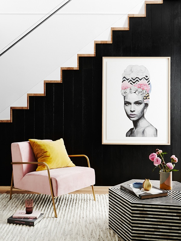 la musa, decoracion, inspiration, day, pink, decor, black, white, decoration