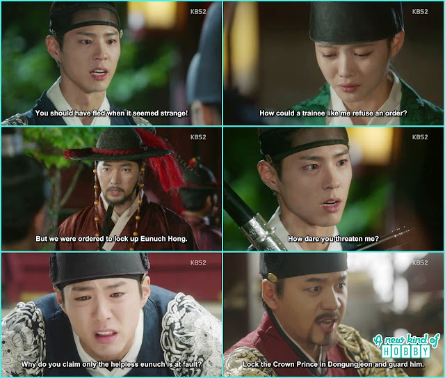 ra on taken to the prison by the guards  - Love in The Moonlight - Episode 6 Review