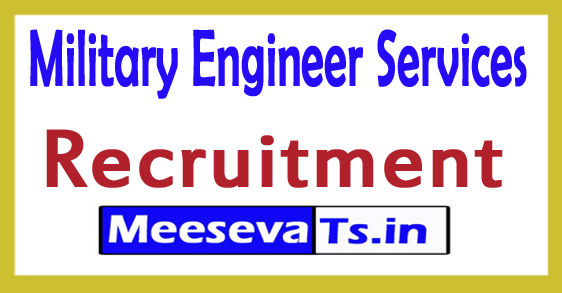 Military Engineer Services (MES) Recruitment 2017