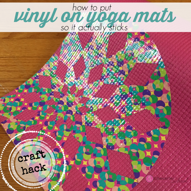 vinyl on yoga mat silhouette cameo tutorial