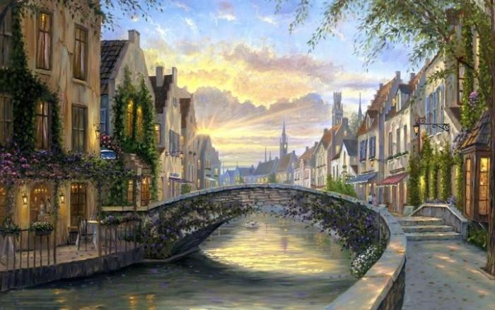 Романтические городские пейзажи. Robert Finale 3