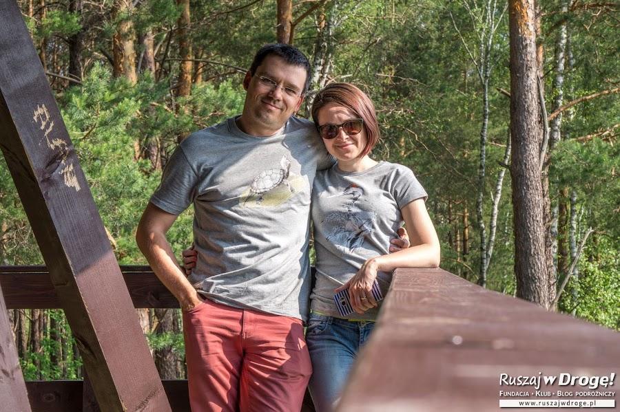 Na platformie widokowej na Durne Bagno w Poleskim Parku Narodowym