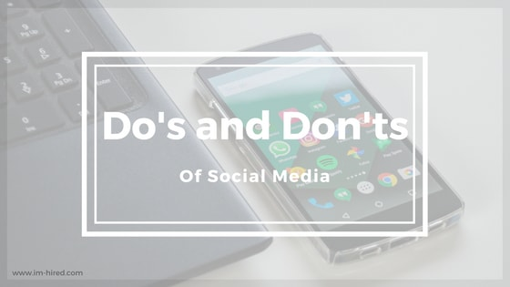 The Do's and Don't of Social Media Applying