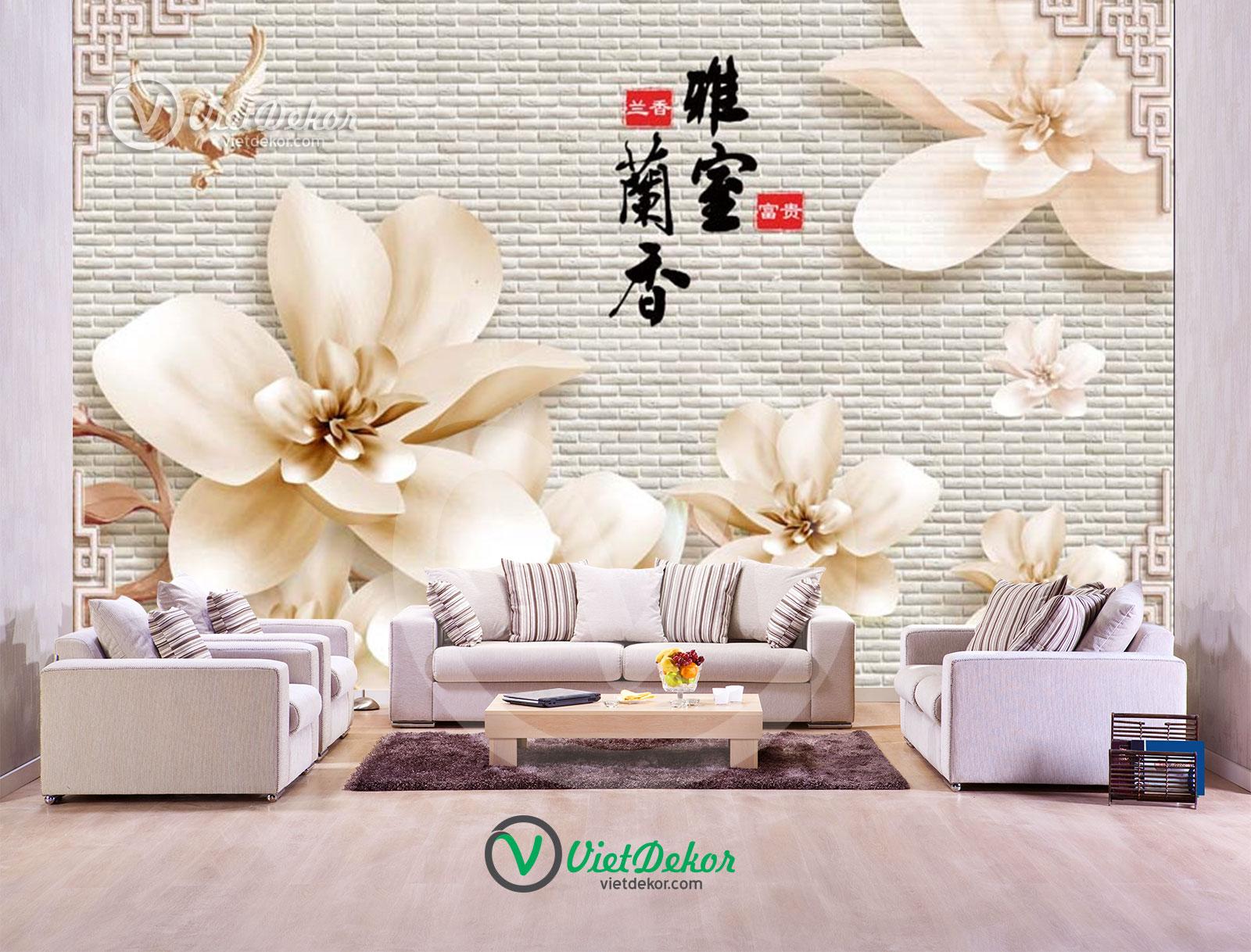 Tranh 3d dán tường phòng ngủ xinh