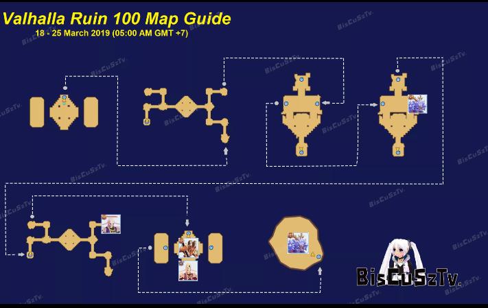Guide map valhalla ruins terbaru maret 2019