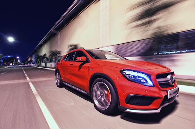Mercedes AMG GLA 45 4MATIC sở hữu thiết kế thể thao mạnh mẽ