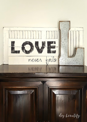 Turn some scrap wood into a perfectly weathered DIY handmade sign! You'll love the character, charm and imperfection. Find the tutorial at diy beautify!