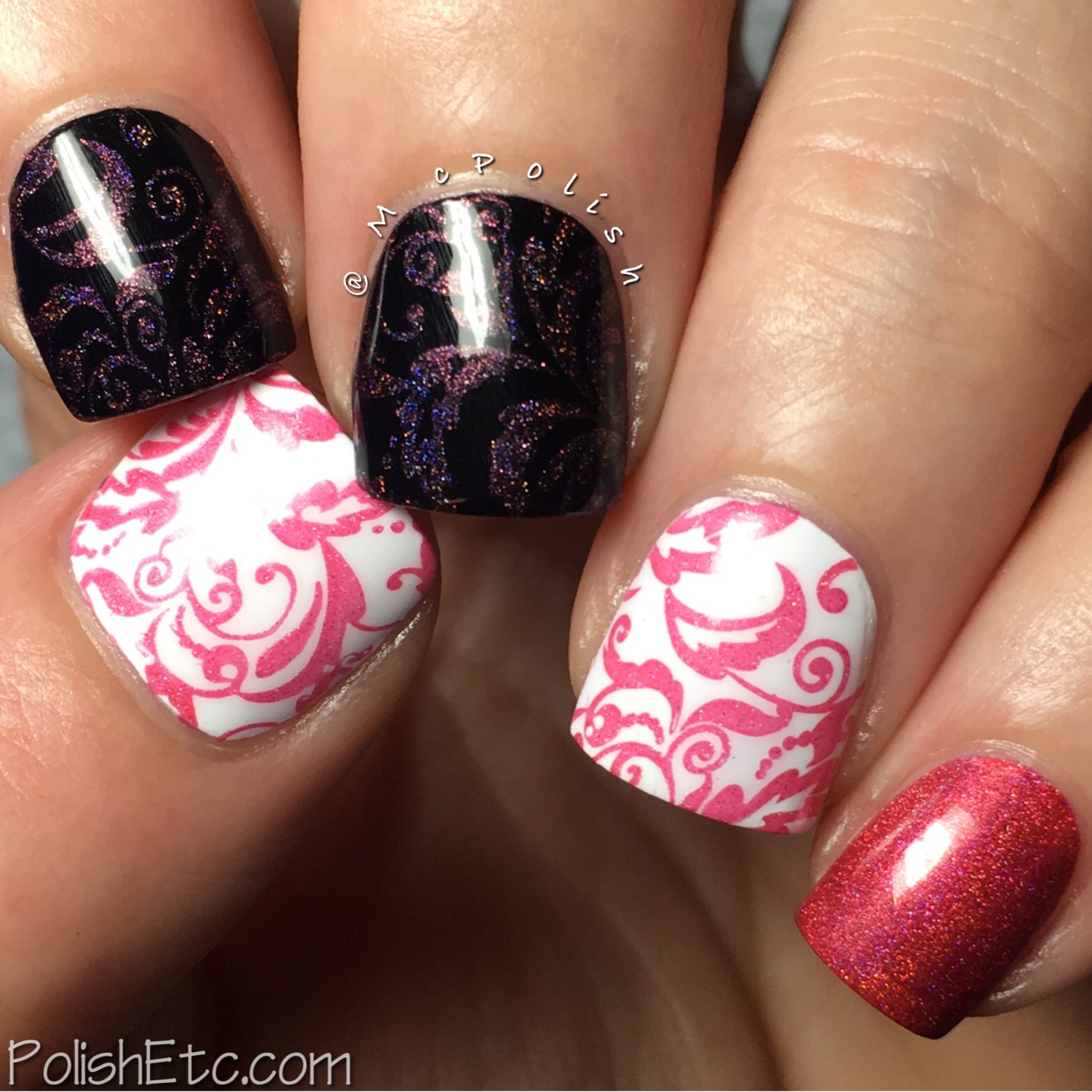 Celestial Cosmetics stamping polishes for Color4Nails - McPolish - Poppy