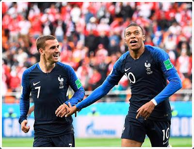 Antoine Griezmann Kylian Mbappé France 2018