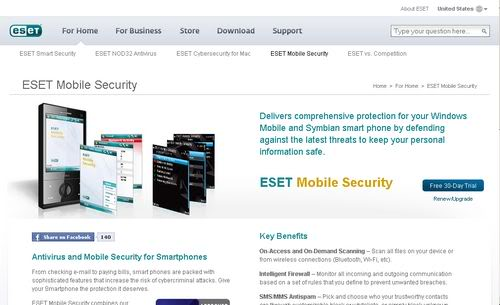 ESET Mobile antivirus