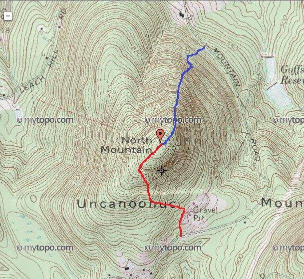 HockeyPucks hiking and highpointing: North Uncanoonuc - 1324 Ft