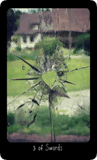 Three of Swords tarot card image